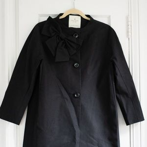 Kate Spade Kendall Bow Detail Coat Size Medium